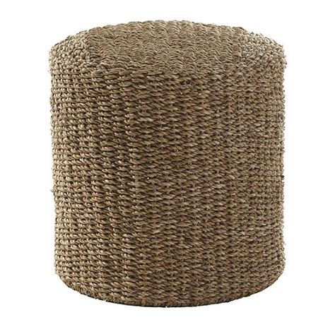 seagrass pouf ottoman handwoven seagrass pouf the natural wisteria and furniture