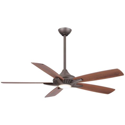 Ceiling Fan With Led Lights Minka Aire Fans Dyno Rubbed Bronze Led Ceiling Fan