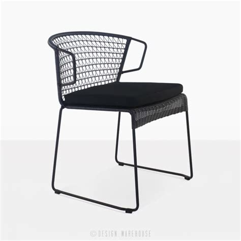 black wicker dining chairs wicker dining chair black outdoor furniture