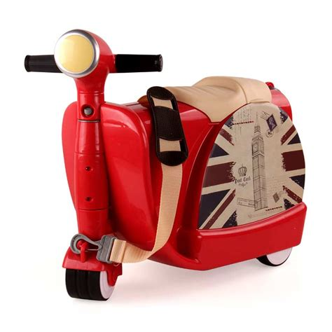 Vespa Luggage Ride On bei jess indoor and outdoor suitcases can ride three wheeled motorcycle toys 3 year children
