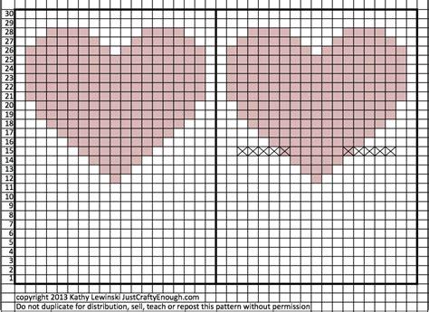 heart graph pattern for knitting heart knitting chart bing images