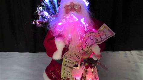 fibre optic animations traditional santa with list
