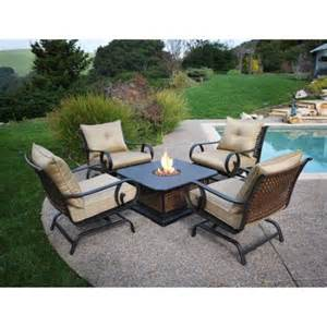Walmart Patio Table Set 5 Casual Patio Set With Firepit Table Walmart