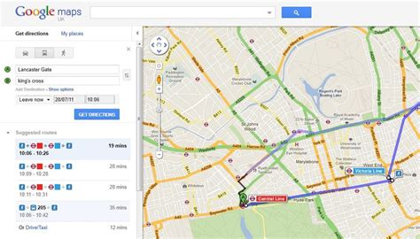 printable directions google maps public transport directions on google maps londonist