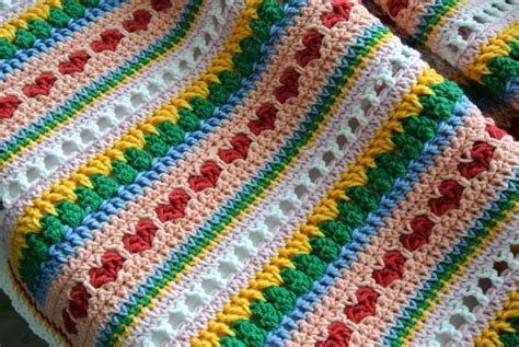 mixed patterns mixed stitch blanket tutorial images frompo