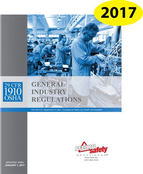 prevention and osha compliance books 2017 29 cfr 1910 osha general industry regulations book