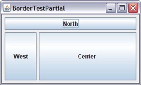 java layout center vertical java borderlayout