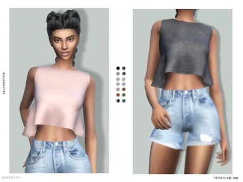 Crop Top Blouse Cc the sims resource crop top by serenity cc sims 4