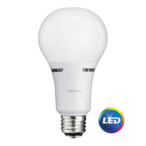 3 Way Led Light Bulbs Philips 50 100 150w Equivalent Soft White 3 Way A21 Non Dimmable Led Light Bulb 465146 The