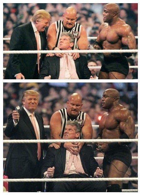 donald trump di wwe esecuzione capillare trump sul ring rade il presidente