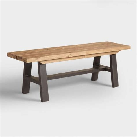 a frame bench wood and metal coronado a frame dining bench world market