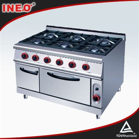 Kitchen Gas Oven Price Stainless Steel Commercial 6 Burners Kitchen Gas Range