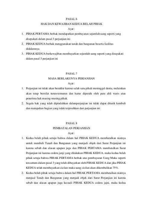 contoh surat perjanjian jual beli tanah motorcycle review and galleries