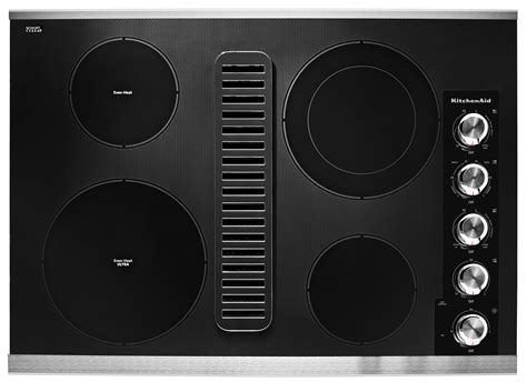 downdraft ventilation for cooktops kitchenaid kced600gss 30 quot electric downdraft cooktop w 4