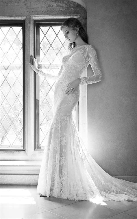 Embroidered Low Back Wedding Dress | Martina Liana Wedding Dresses