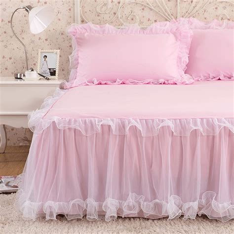 Handmade Bedspreads - luxury rufflled bedspread lace bed skirt bed