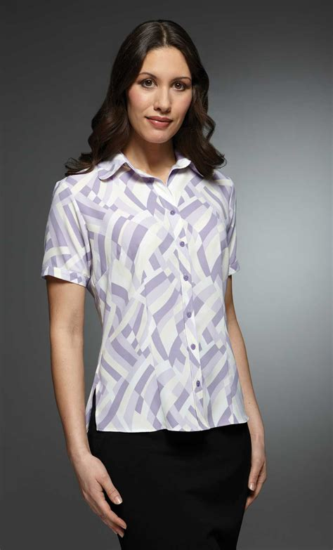 S Sleeve Blouses Uk by Womens Patterned Work Blouse Sleeve