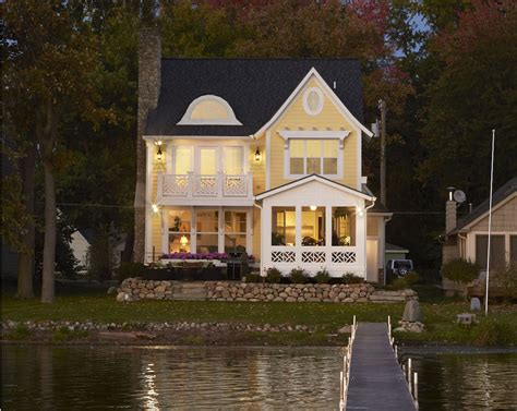 Narrow Lot Lake House Plans by Narrow Lakefront Home Plans Homes Floor Plans