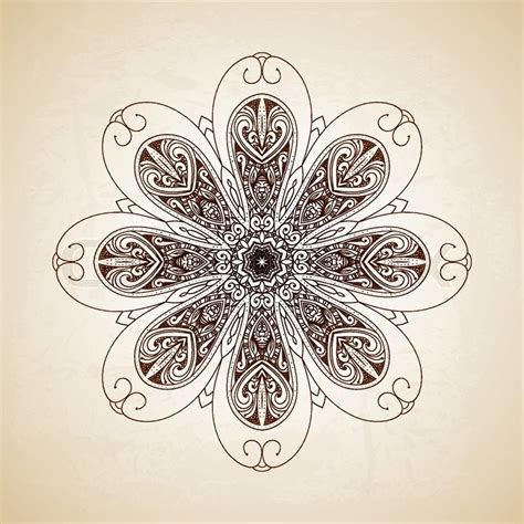 vintage pattern web vintage vector circle floral ornamental border lace