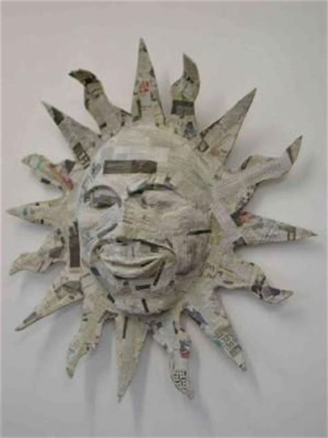 How To Make A Paper Mache Sun - 25 best ideas about paper mache on paper