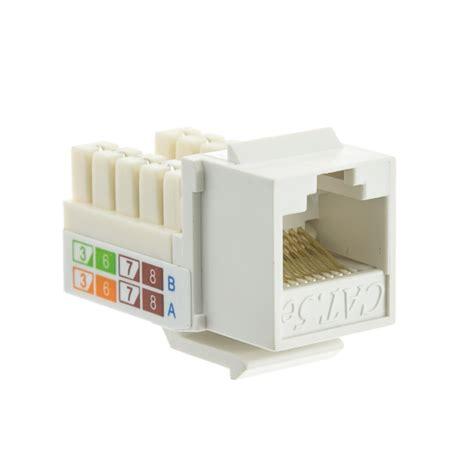 Rj45 Cat5e white cat5e keystone rj45 to 110 punch