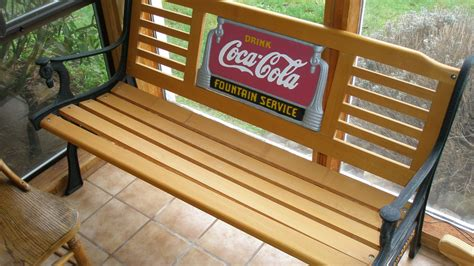 coca cola bench coca cola park bench fan etc collectors weekly