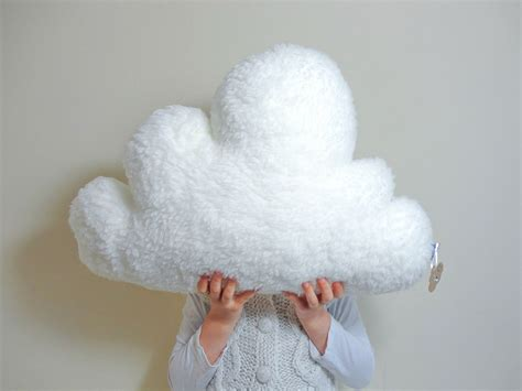 Fluffy Pillow by White Fluffy Cloud Pillow Cushion Faux Sheepskin By