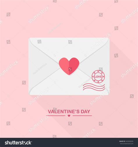 Invitation Letter Greeting valentines day greeting card envelope st stock vector