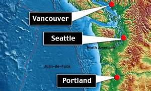 map seattle vancouver seattle vancouver and portland are at risk of a megaquake