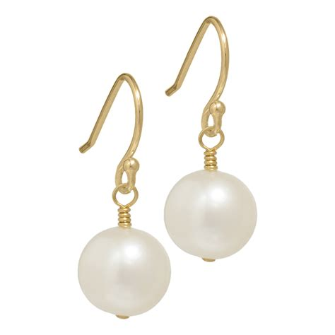 gold pearl earrings pearl jewellery uk biba
