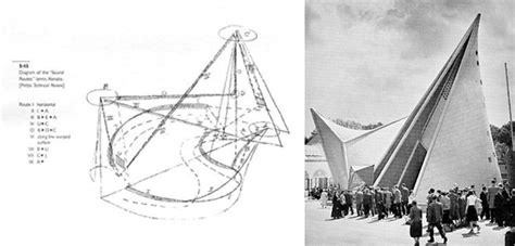 Pavillon Philips Xenakis by Le Corbusier Graphicnotation
