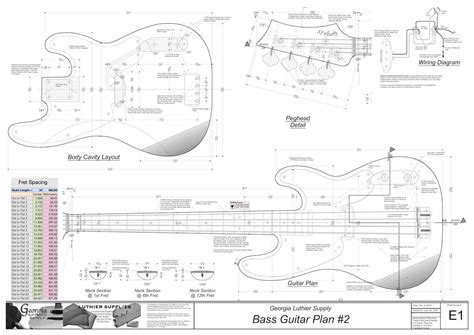 p bass body template images templates design ideas