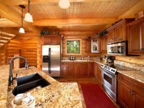 Home Interiors Kitchen by Log Home Kitchens Log Cabin Homes Interior Kitchen Log