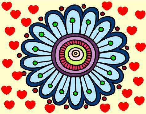 imagenes de mandalas faciles pintados dibujo de mandala margarita pintado por candesanti en