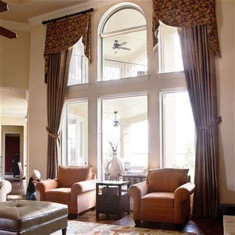 Two Story Living Room Curtains by Windows Window Treatments And Window Treatments