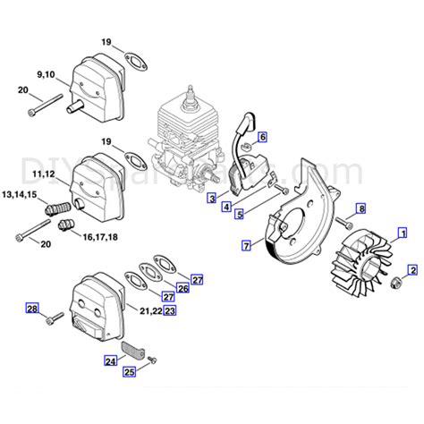 stihl bg 85 parts diagram stihl bg 85 blower bg85c parts diagram ignition system
