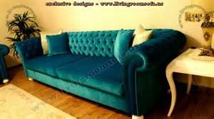 Turquoise Chesterfield Sofa Velvet Chesterfield Sofa Purple Blue Pink Bright Chesterfield Sofa Living Room Hotel Room