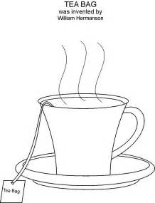 tea coloring pages tea bag coloring printable page
