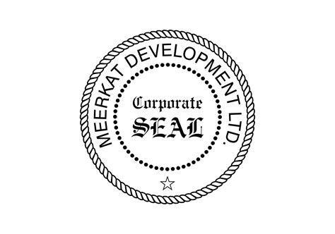 company rubber st designs corporate seal st traditional