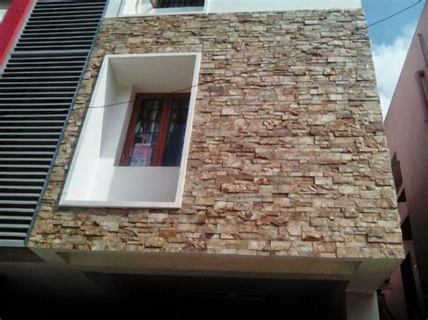 brown stone tile indian home front design with glass contractors in chennai modern elevations wall cladding