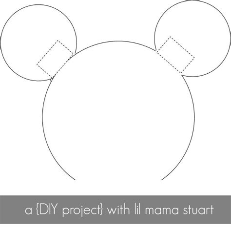 mouse ears template mickey mouse ears template headband cliparts co