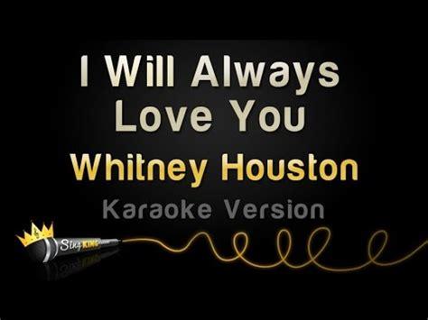 testo will always you houston i will always you karaoke version