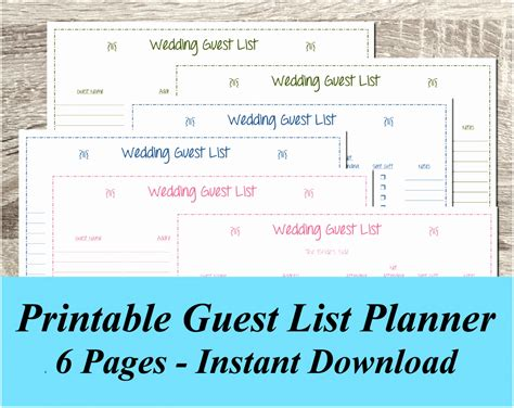 Wedding Planner Guest List by 10 Wedding Planning Guest List Template Iaapu Templatesz234