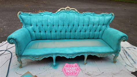 how to paint a couch sofa paint spray painting fabric with chalk paint shabby