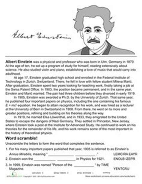 biography text albert einstein 1000 images about teach writing biography on pinterest