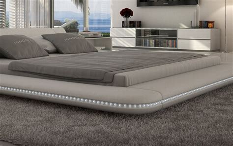 bett design polsterbett design custo led designerbett mit led