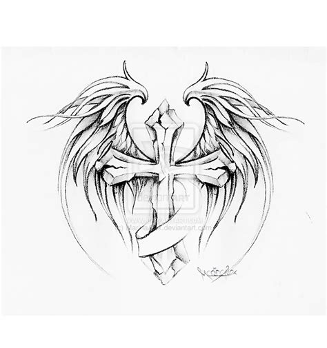 tattoo designs cross with wings wings tattoos page 69