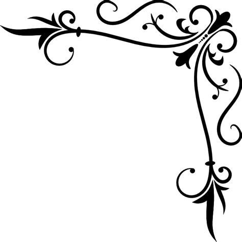 corner pattern png corner flourishes free clipart best