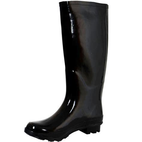 mens funky wellington boots glossy black funky festival wellies wellington
