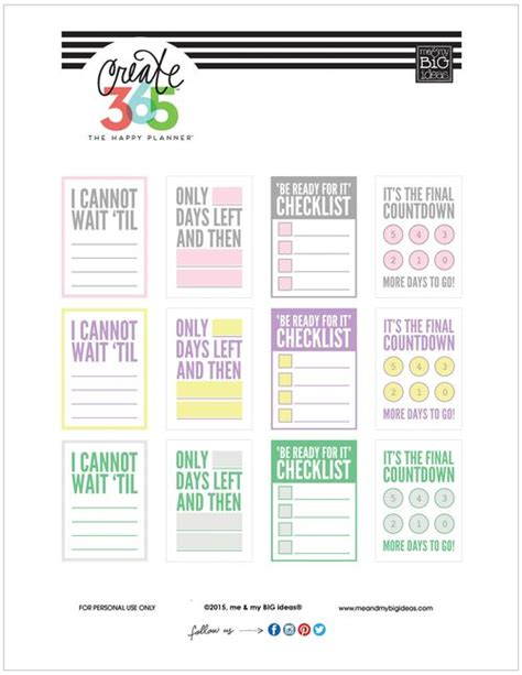 free printable daily countdown calendar the happy free printables and printables on pinterest